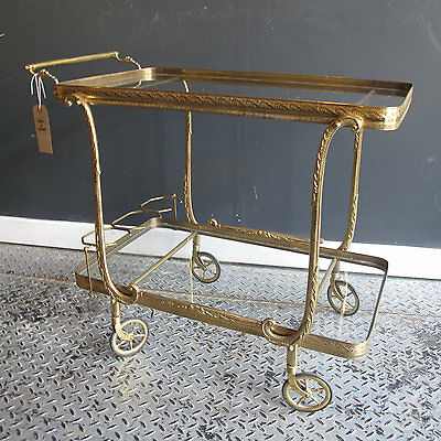 Vintage 1950's Cocktail Trolley Original Hollywood Regency Antique Drinks Party