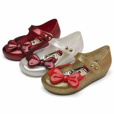 Butterfly kids Girls Fish Head Shoes Sandals Toddler Mini Melissa US Size 7-12
