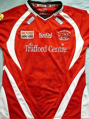 Salford City Reds Signed Shirt x17 - Rugby, 2017 Squad, Red Devils, Mossop