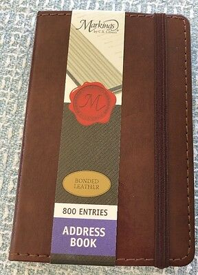Markings by C.R. Gibson Brown Bonded Leather Address Book 800 Entries 3.5 x 5.5