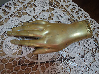 Antique Victorian Era Brass Or Bronze Open Womans Right Hand