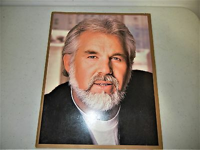Kenny Rogers Souvenir Program Brochure 1985 Large Format Excellent