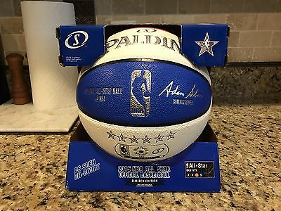 Official Spalding 2015 NBA New York All Star Game Money Ball Leather Basketball