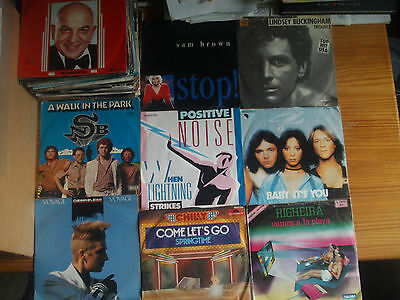 "7"" VINYL SINGLES SAMMLUNG : 66 x POP ROCK DISCO OF THE 70th - 80th BUNDLE LOT"