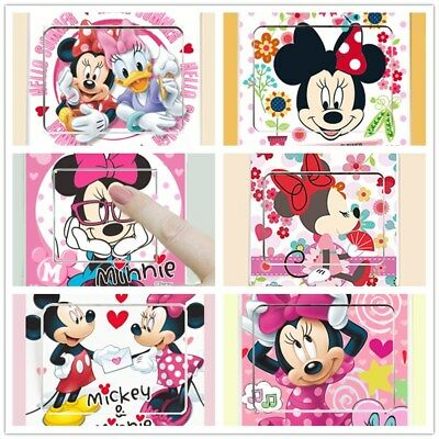 ❤️ Neues 6 Lichtschalter Wandtattoo Wandsticker Disney Minnie Maus🌸