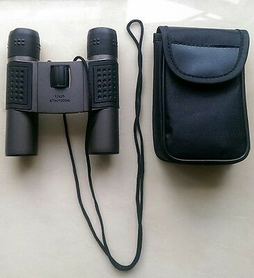 Compact Binoculars 12 x Magnification 25 mm Objective Lens