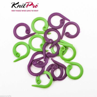 KnitPro Split Ring Stitch Markers - Pack of 30 - Two Colours - Knitting Crochet