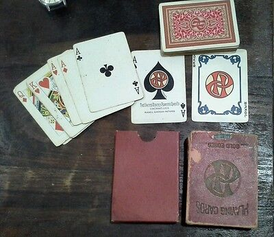 Vintage Pullman Railroad Playing Cards, Red, poker size, 1940s