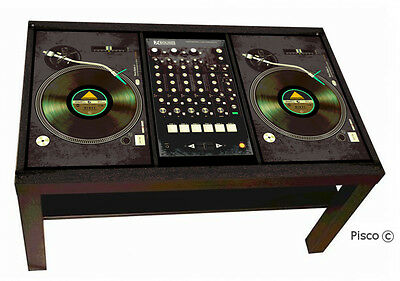 TAVOLINO TURNTABLE CONSOLE  DJ CONSOLLE DESIGN by PISCO ® PERSONALIZZA IL TUO!