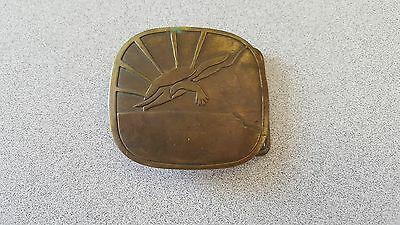 Rising Sun Seagull Solid Brass Vintage 1970's Belt Buckle