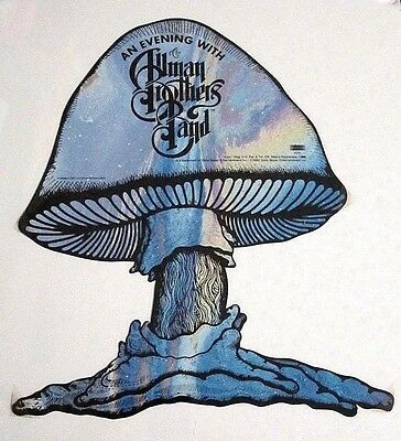 Allman Brothers Band 1992 An Evening With Promo die cut Mushroom Album Flat