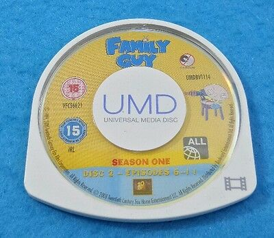 Serie Sony Psp Umd Español Original - Family Guy Season 1 Disc 2 Episodios 6-11