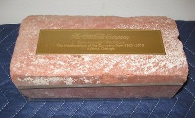 Vtg. COCA COLA  COMMEMORATIVE BRICK from HEADQUARTERS / ATLANTA, GA. 1920 -1979