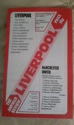 Manchester united v Liverpool 1975/76 very good condition division 1 away