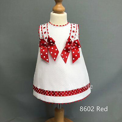 Beautiful Wee Me Baby Girl's Spanish Dress with Red Polka dot Bow/PerfectGift