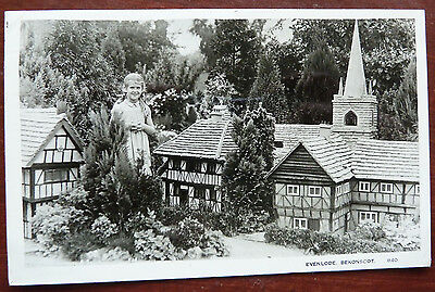 Real Photo Postcard- Evenlode, Bekonscot- Posted 1951