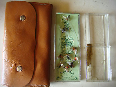 Vintage Fly Fishing Case And Haywood Fishing Fly Lot Trout Denver