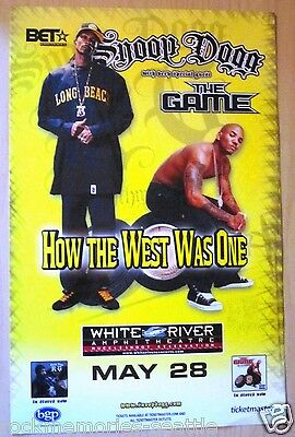 SNOOP DOGG Plus The Game White River WA Concert Poster rap hip hop