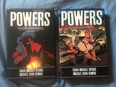 Lot of 2 Marvel Powers: The Definitive Hardcover Collection Volumes 1,4