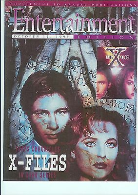 X-FILES Mulder/Scully COVER - Entertainment Edition w. price guide, ads, ftrs +