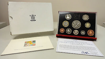 1998 United Kingdom deluxe proof set, 50th birthday of Prince Charles, complete