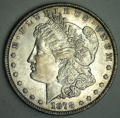1878 Morgan One Dollar 8TF XF Silver Coin US Extra Fine $1 Type Coin #JC