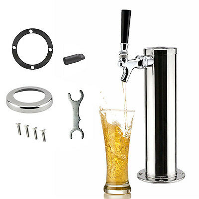 1 Tap Faucet Stainless Chrome Draft Beer Tower Home Brew Bar Fit Kegerator SALE