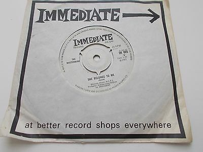 """Rare 1965 The Masterminds """"She Belongs to Me""""  UK  45 (Page)"""