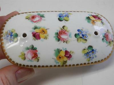Antique Early Victorian Coalport H/Painted Pink Roses Pansies Flowers EXQUISITE!