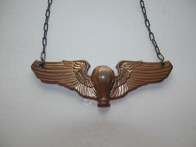 WWII USAAF Balloon Pilots Wing Pendant Necklace United States Air Force