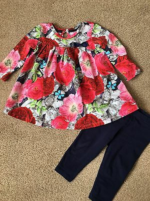 Girls Floral Ted Baker Top And Leggings Age 6-9 Months