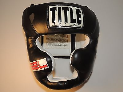 Title Boxing Gel World Full Face Training Headgear Size Large