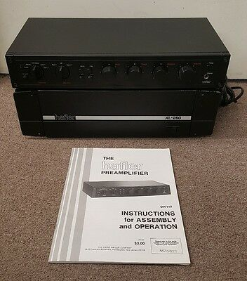 Hafler XL-280  Excelinear Power Amplifier and Hafler DH-Preamplifier/w manual