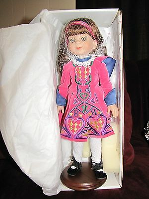"""Betsy McCall 14"""" Betsy Irish Dancing Doll and Stand"""