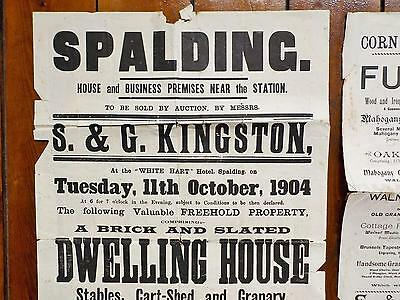 Spalding Lincolnshire Job Lot paper documents Ephemera dated 1872 to 1920