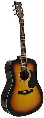"""41"""" Inch Full Size SUNBURST Handcrafted Steel String Dreadnought Acoustic Guitar"""