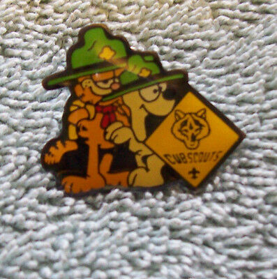 Garfield and Odie Cub Scout Enamel Pin 1978