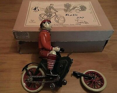 Rolli 230 Tin Wind up Toy Needs TLC Rare DBS Made in Germany