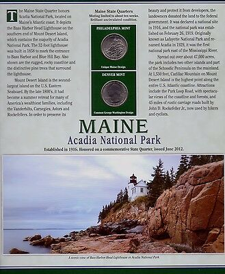 2012 Maine State Quarter & Stamp Collector Set