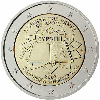 Roll 2 Euro Greece for the 50th anniversary of the Treaty of Rome 25 coins