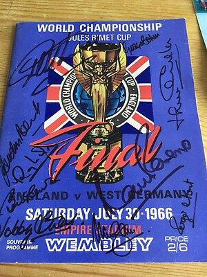 Rare 1966 World Cup Final Programme Signed By 10 Players!