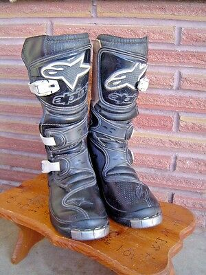 ~Alpinestars Motorcycle Boots, Youth Size 5 Motocross Mx, Preowned, Nice!~