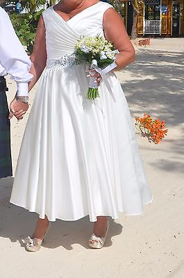 Hot Pink And Ivory Wedding Or Bridesmaid Dress Size 20 Ankle Length O 5000