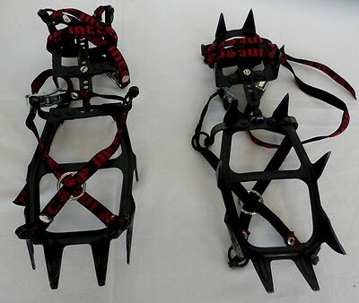 CAMP INTER ALP ICE CRAMPONS Adjustable Stubai Tirol R Austria 2 in carry bag