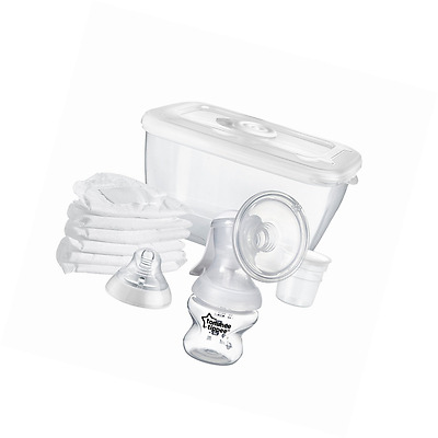 Tommee Tippee Manual Breast Pump Portable Silicone Suction Milk Feeding Baby Kit
