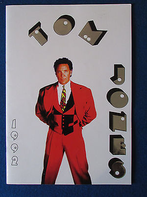 Tom Jones - Concert Tour Programme - 1992
