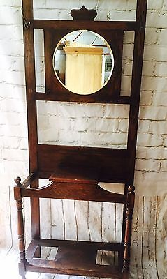 Antique Oak Hall Stand May Deliver