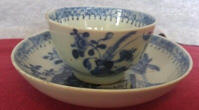 Good 18th Century Chinese Porcelain Tea Bowl Saucer Circa 1780 Banana Tree Patt