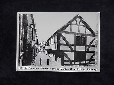 Vintage Postcard The Old Grammar School, Heritage Centre, Church Lane, Ledbury