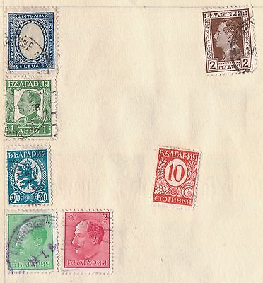 Bulgaria Stamps Mint Hinged & Used On Page from Old Album (2 Sides)